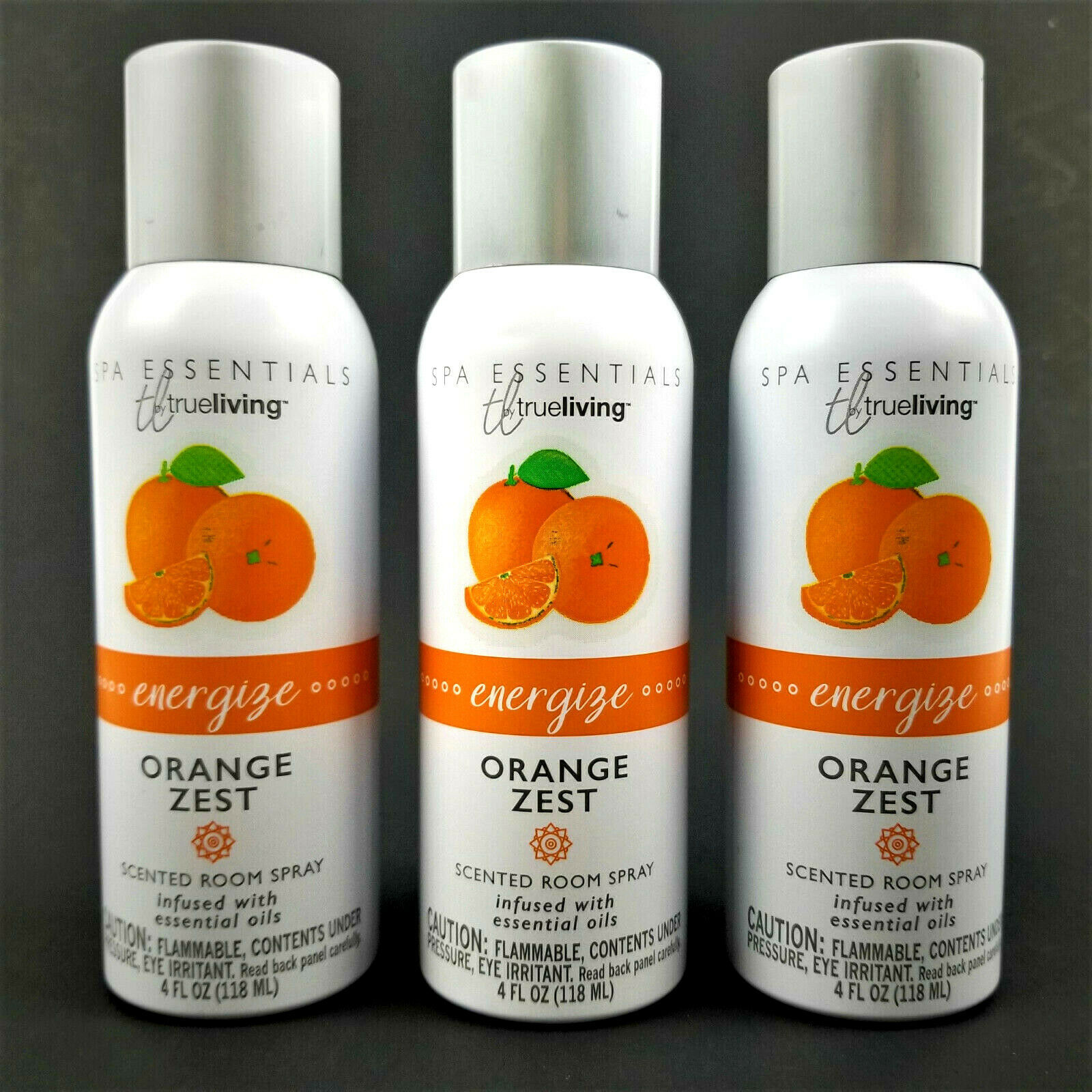 Primary image for 3 CANS Scented Room Spray ORANGE ZEST Infused w/Essential Oils! Spa Essentials