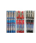 Cello Butterflow BLUE, BLACK, RED Ink Ball Pen, Set of 15 ** BEST PRICE ** - $10.56