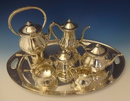 Arthur Stone Sterling Silver Tea Set Tilting Kettle On Cradle w/Tray 7pc #0176 - $37,500.00