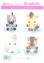 Simplicity Patterns Animal Stuffies Size: Os (One Size), 8034 - $13.48