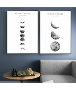 Moon Phase Posters And Prints Minimalist Art Poster Solar System Canvas ... - $3.99+