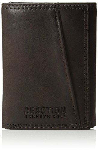Kenneth Cole Reaction Men's Rfid Blocking Slim Trifold Security Wallet, brown, O