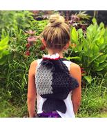 Crochet shark drawstring backpack - $35.00