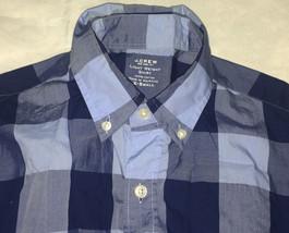 J.Crew Plaid shirt front buttons /cotton / Blue  Size X-Small /Light Weight - $14.89