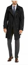 Lauren Ralph Lauren Men's Lowry Classic Fit Raincoat Trench Jacket 42L Black  - $168.25