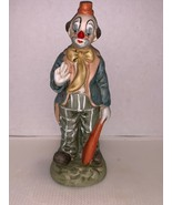 "Clown Hobo Holding Bat Wearing Orange Hat Figurine 7 3/4"" - $7.50"