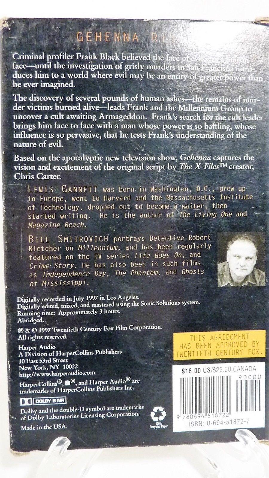 Harper Audio Millennium Created by Chris Carter Gehenna Novel by Lewis Gennett