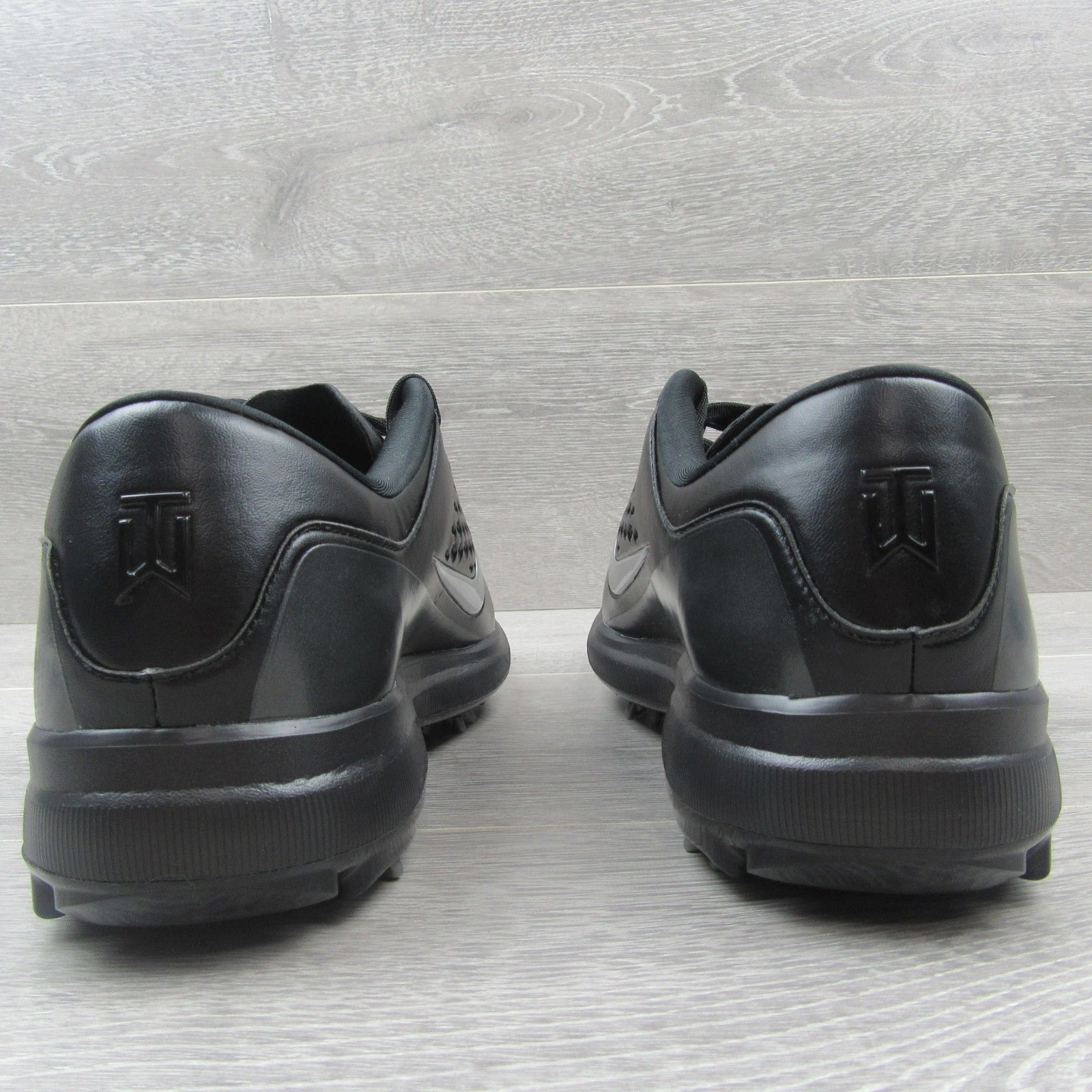 b974c46bb32a1 Nike Golf Air Zoom TW71 Tiger Woods Cleats Size 11 Mens Black Silver AA1990  002