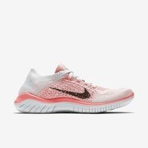 Nike Women's Free Rn Flyknit 2018 Shoes Crimson Pulse Black 942839 800 - $75.98