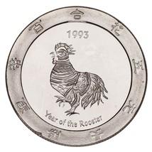 1993 Año Del Gallo Plata .999 1 Onzas Juegos Redondo Alcachofa Joe's - $49.73