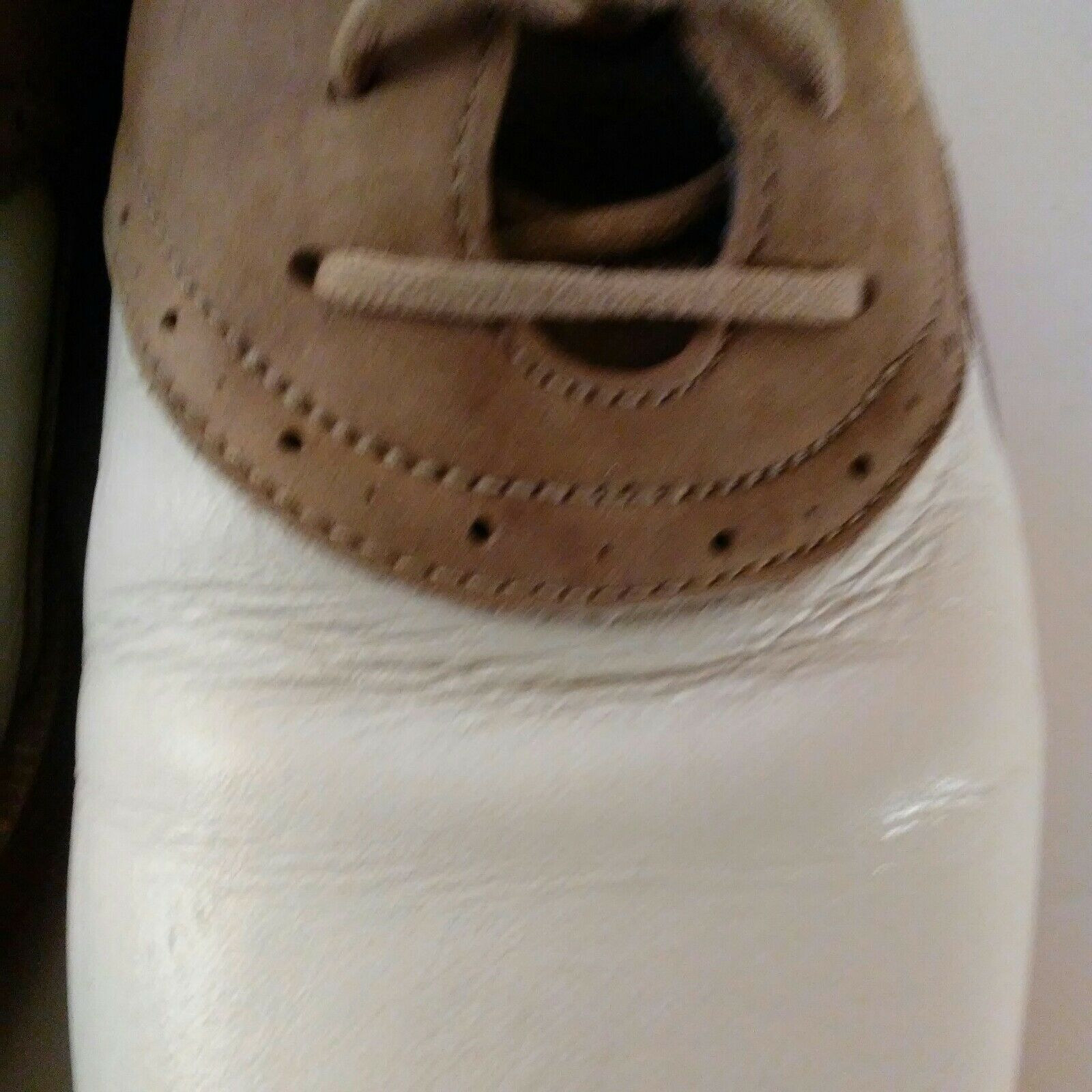 Nike Air Classic Plus White & Brown Saddle Golf Shoes Size 9 image 6