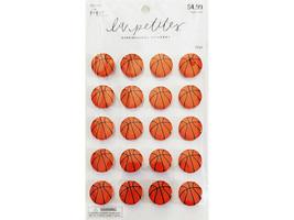 The Paper Studio La Petite Basketball Dimensional Stickers #1821180