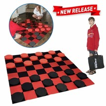 EasyGo Giant Checkers Game – Indoor Outdoor – Family Game – Lawn Game - 5  - $45.99