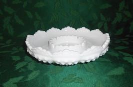 Fenton Milk Glass Hobnail Chip & Dip, Candle Bowl, Ashtray - $14.00