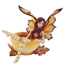 Amy Brown Autumn Comfort Cup Fairy Fantasy Art Figurine Collectible 4.75... - £20.15 GBP