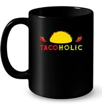 Funny Cute Taco Ceramic Mugs for Women Men Tacoholic Ceramic Mug - $13.99+