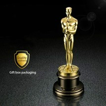 Golden Plated Metal 1: 1 Oscar Statue Ornaments Trophy Awards Figur Prei... - $299.99