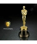 Golden Plated Metal 1: 1 Oscar Statue Ornaments Trophy Awards Figur Prei... - $218.29