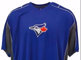 Toronto Blue Jays MLB Majestic Blue V-Neck Jersey T-Shirt, Mens Big & Ta... - $24.90