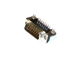 New Amp D737A 15 Pin Pc Board Mount Connectors (3 Available) - $11.99