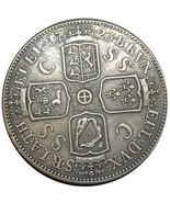 Rare Antique European 1723 United Kingdom UK 1 British English Crown Gre... - $27.90