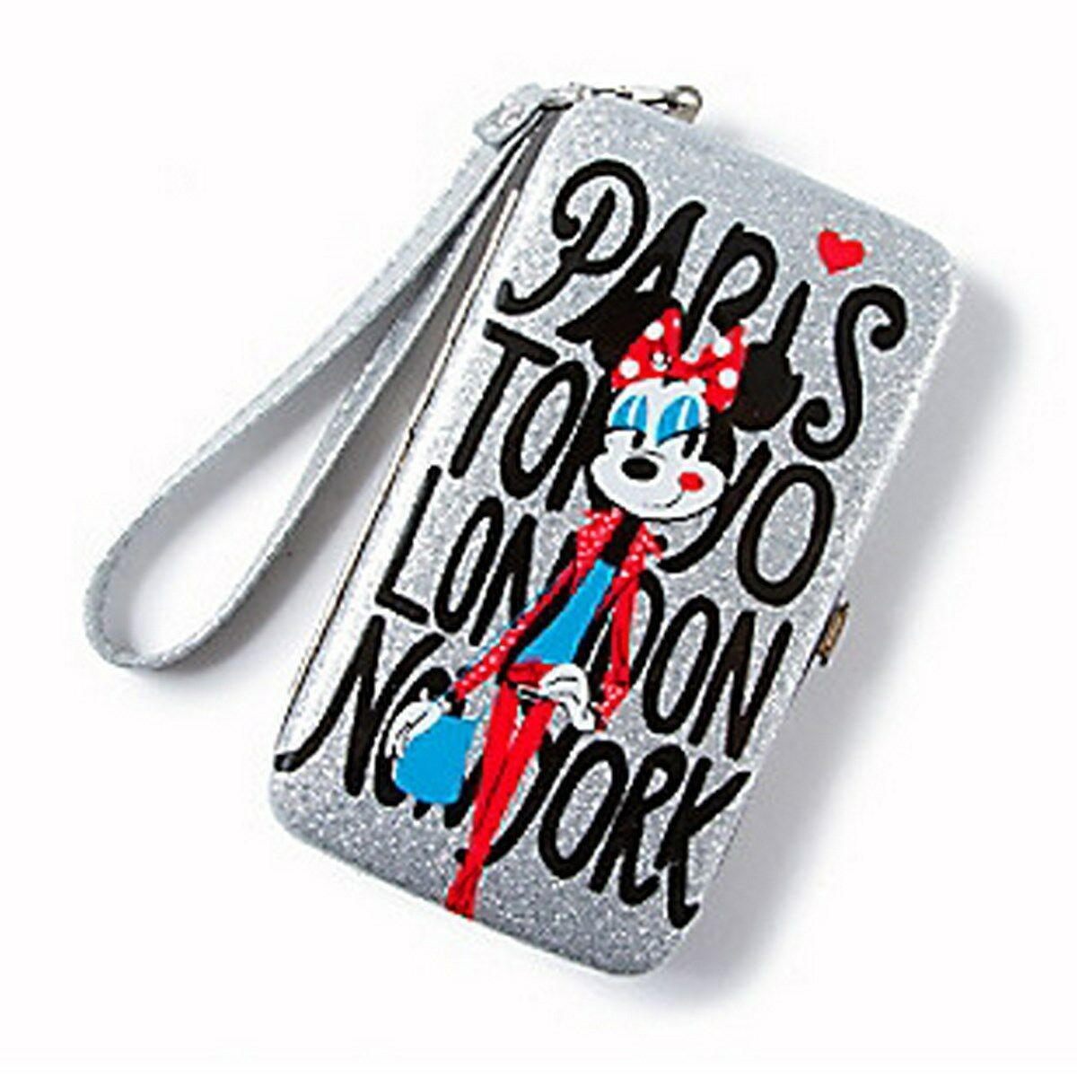 Primary image for Minnie Mouse Around the World Glitter Smartphone Wristlet - NEW