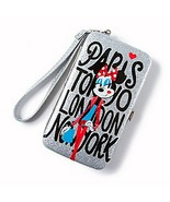 Minnie Mouse Around the World Glitter Smartphone Wristlet - NEW - $9.89