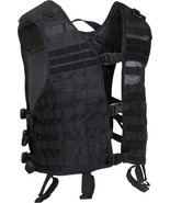 Black Lightweight Military Tactical MOLLE Adjustable Mesh Utility Vest - $40.99