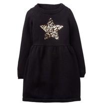 NWT Gymboree Girls Winter Star Black Sequin Star Sweater Dress Size  5 6 - $14.95
