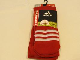 Adidas Climalite Unisex Rivalry Ritoc Baseball 2 Paio Calzini M 5-9.5 Otc Rosso - $15.48