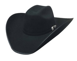 Bullhide Hats BOOT HILL 8X Fur Blend Felt Cowboy Hat - Black - $89.50