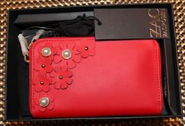 $195 NWT ZAC Zac Posen Eartha Indexer Floral Applique Leather Geranium W... - $129.99