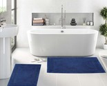 "Set of 2 Bath Rugs - 100% Cotton 17"" x 24"" Neo Arena Bathmat - By Queenz Living"