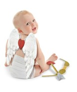Infant 0-6 Months Valentine's Cupid 3 Pc Costume Kit Wings Bow Arrow - $21.59