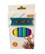MARCADORES - CON AROMA 6 DIFFERENT COLORS HIGH-LITERS - $5.77