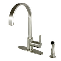 Gourmetier Continental Kitchen Faucets w/ Pull-Down Sprayer, Naples Bronze - $228.46