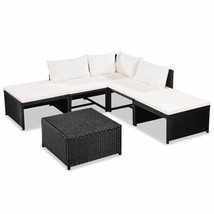 vidaXL 15 Piece Garden Sofa Set Poly Rattan Wicker Outdoor Lounge Seat C... - $346.99