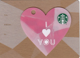 Starbucks 2016 I Love You Mini Heart Collectible Gift Card New No Value - $2.99