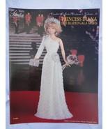 "Paradise Crochet 11 1/2"" Doll  Pattern PRINCESS DIANA 1985 BEADED GALA G... - $10.84"