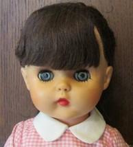 "Vintage Unmarked Pretty Vinyl Girl sleep eye doll brunette 15"" Dressed w... - $44.99"
