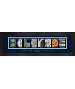 Belgrade Lakes, Maine Framed Letter Art - $39.95