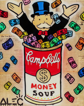Alec Monopoly oil Painting on Canvas graffiti art wall decor Money Soup ... - $28.70
