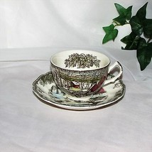JB JOHNSON BROS FRIENDLY VILLAGE CUP & SAUCER THE ICE HOUSE VINTAGE TEA... - $3.69