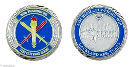 "LACKLAND AIR FORCE BASE MUSTANGS 323RD TRAINING SQUADRON 1.75"" CHALLENGE... - $16.24"
