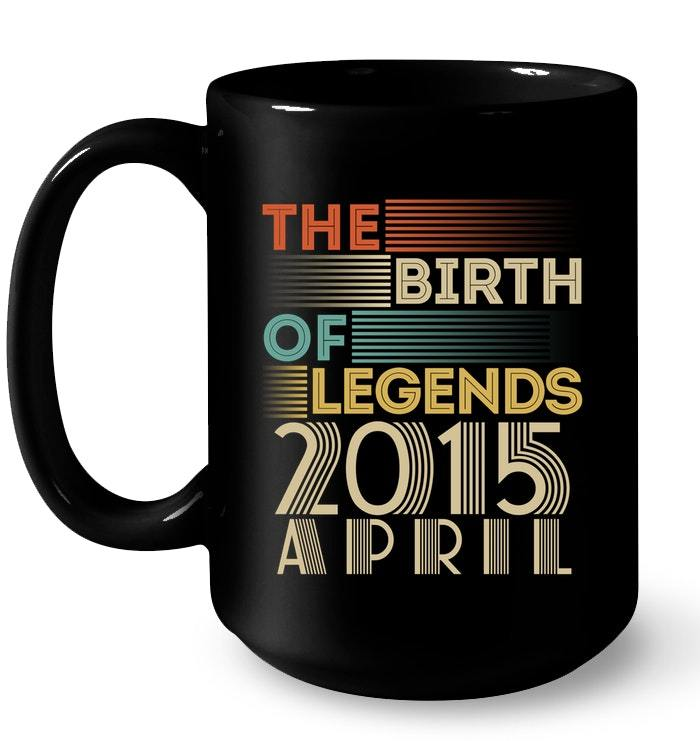 Vintage 2015 APRIL The Birth Of Legends 3 Years Old Awesome Gift Coffee Mug