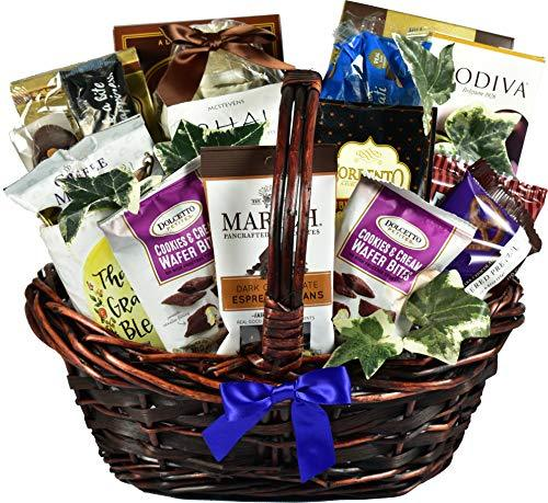 Extreme Chocolate Gift Basket For Her with Truffle Cookies, Deluxe Cocoa, Chocol - $138.69