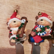 Xmas Bear Spreadables, set of 4, Christmas spreaders cheese knife, butter knives image 5