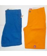 Arizona Jean Co. Boys Chino Shorts Blue  Orange Size 8H,10H, 14H, 16H or... - $19.99