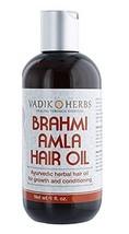 Brahmi-Amla Hair Oil 4oz by Vadik Herbs | Promotes excellent hair growth and hai