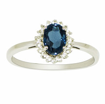 1.00 Ctw London Blue Topaz Gemstone 925 Sterling Silver Solitaire Accent... - $15.97